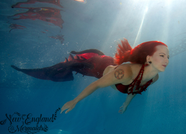 Massachusetts Mermaid Sasha - Real Mermaid Performer for hire - Mermaid for Event and Party Entertainment