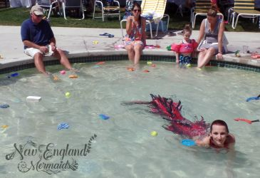 Kiddie Pool Mermaid Swimming