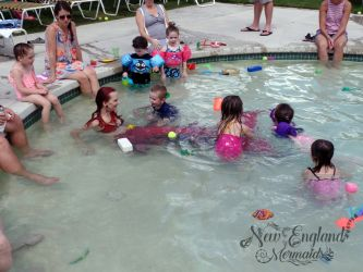 Kids Playing and Swimming with a REAL Mermaid! Birthday Pool Party Connecticut