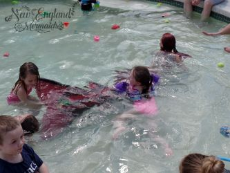 Kids Playing with a Mermaid! REAL Mermaid Performer Entertainer for Parties and Events in Worcester, MA