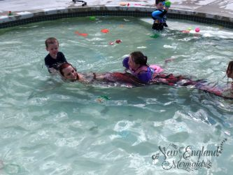 Kids Riding a Real Mermaid! Mermaid Entertainer Boston Massachusetts Party Event Performer