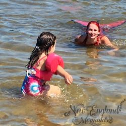Mermaid Games Playing at the Beach Mermaid Sasha New England Mermaids Connecticut