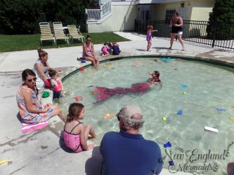 Mermaid Kiddie Pool - Mermaid Swimming in Kids Pool - Massachusetts, Rhode Island, Connecticut