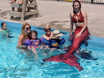 Mermaid Performer in a Swimming Pool