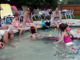 Mermaid Playing with Kids
