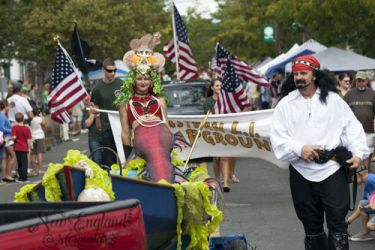Mermaid Sasha Real Live Mermaid Greenport NY Maritime Festival Parade