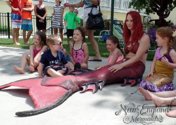 Real Mermaid Performer For Kids Birthday Party New Hampshire