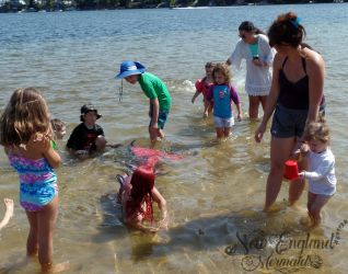 Real Mermaid Performing Swimming In Lake Kids Party Massachusetts