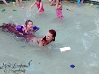 Real Mermaid Playing with Kids Rhode Island