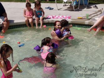 Surprise Mermaid Birthday Party Swimming Mermaids
