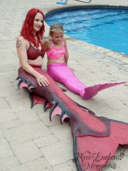 The Little Mermaid Trying On Her New Mermaid Tail - New England Mermaids